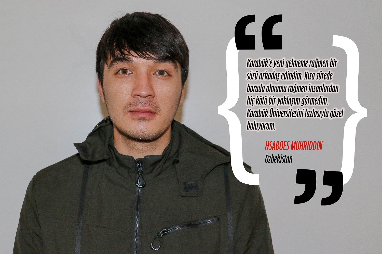 Hsaboes Muhriddin (Uluslararası İlişkiler) - Özbekistan